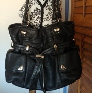 ⭐⭐B. Makowsky Black Leather Bag